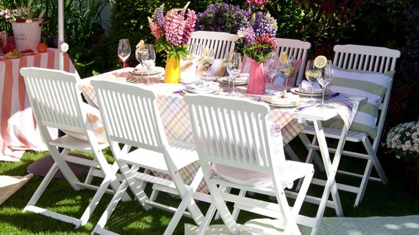 Witte tuinset