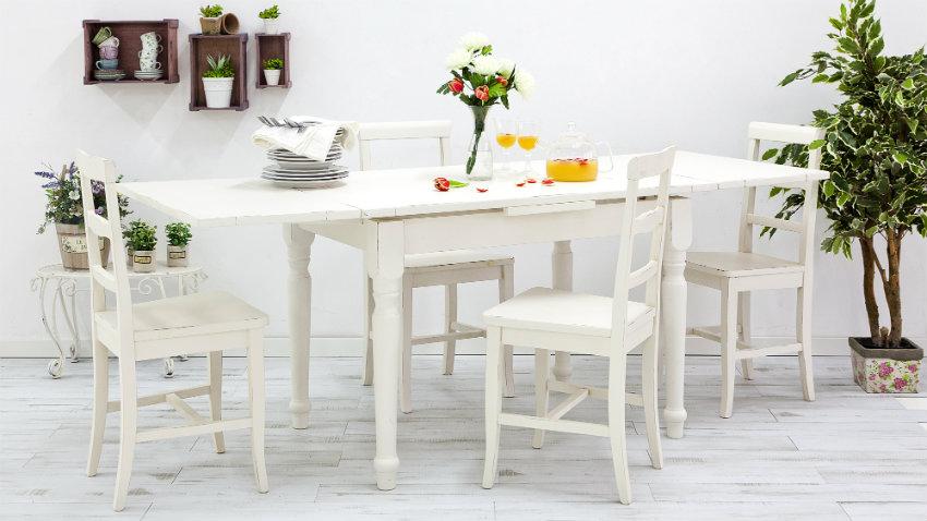 Eettafel Wit Hout : Witte houten eettafel tijdloos en korting tot westwing