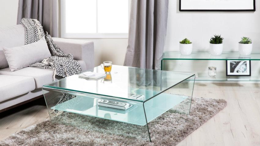 Een strak glazen tv meubel bij jouw moderne tv westwing