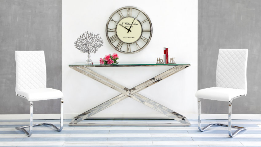 Shop hier jouw zilveren klok met korting tot 70 westwing - Moderne klok ...