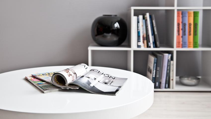 Mooie Witte Hoogglans Salontafel.Ga Voor Trendy Met Een Bijzettafel Hoogglans Wit Westwing