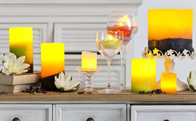 Eleganckie świece dekoracyjne