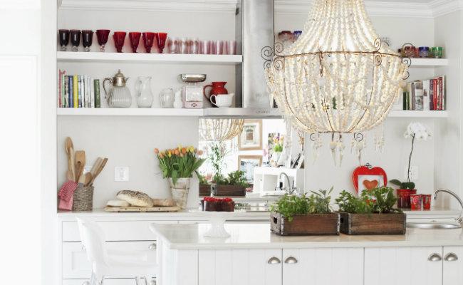 Elegancka biała kuchnia