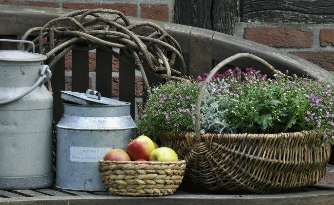Ogród rustykalny w tradycyjnym stylu