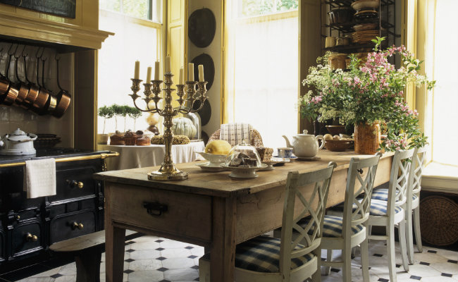 Kuchnia i jadalnia w stylu wiejskim