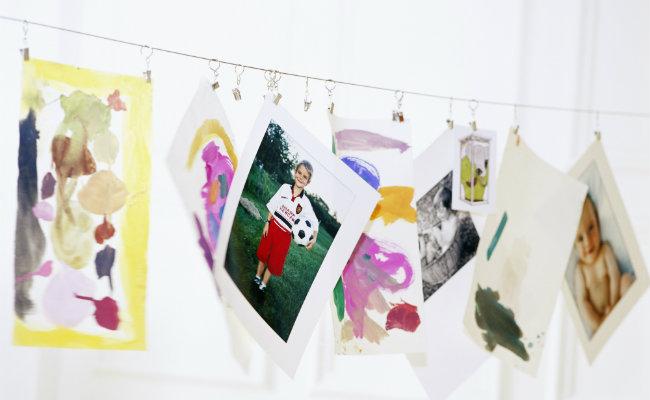 zdjęcia jako dekoracje z papieru