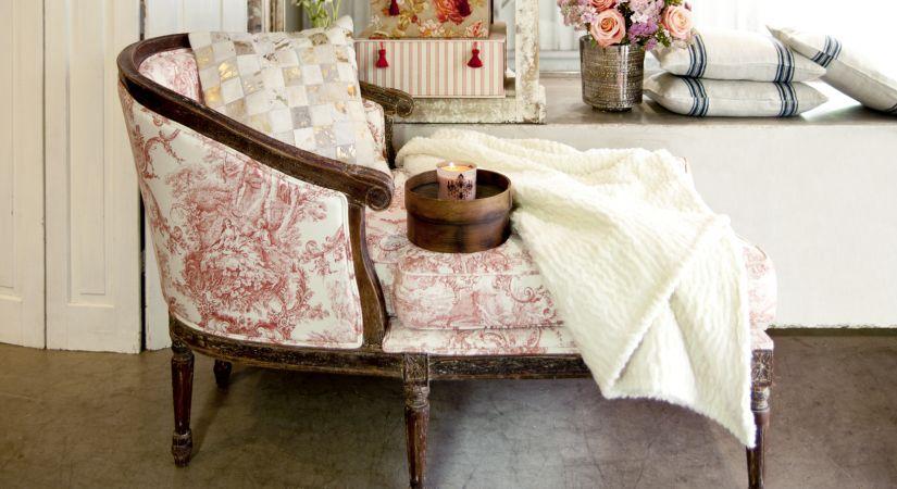 Romantická stolička v shabby-chick štýle