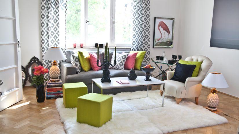 Vzorované záclony do obývačky