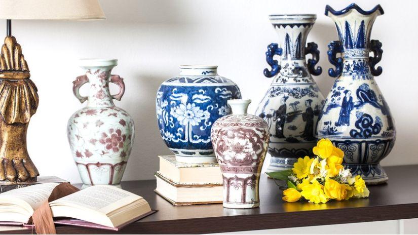Dekoračné predmety z porcelánu