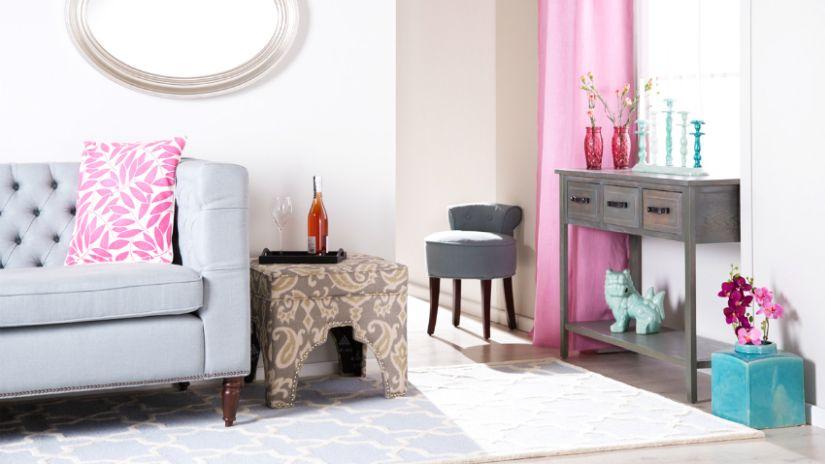 Štýlový sivý nábytok do obývačky