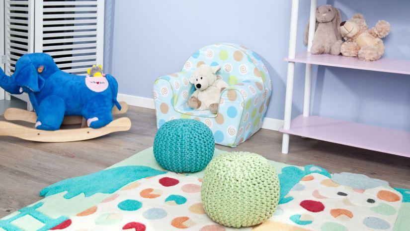 Modrá detská sedačka