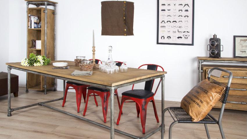 Kovové retro stoličky do jedálne