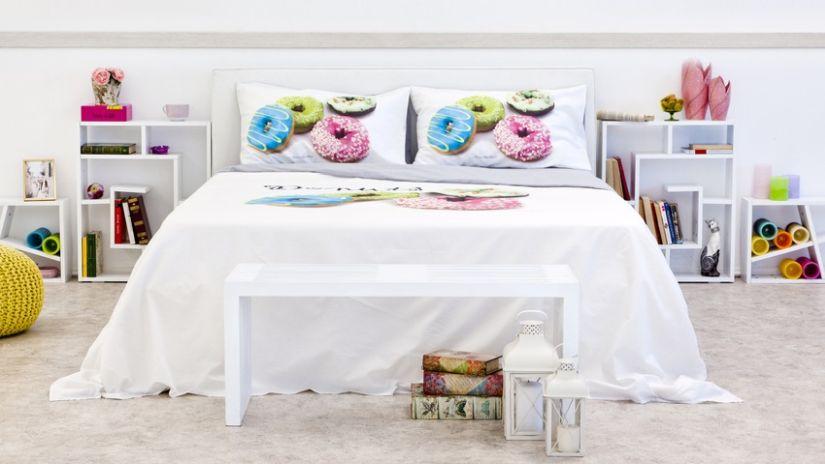 Moderné biele nočné stolíky