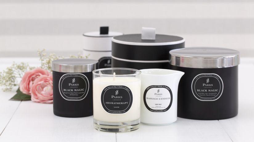 Čierne dekoračné sviečky