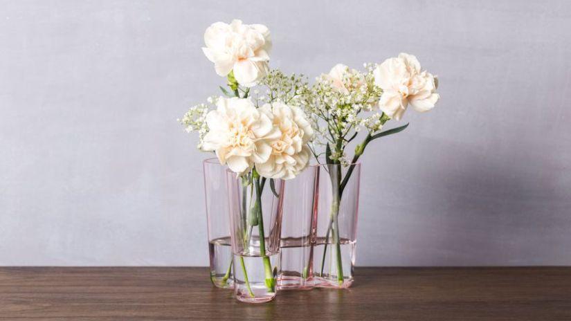 Jednoduché sklenené vázy