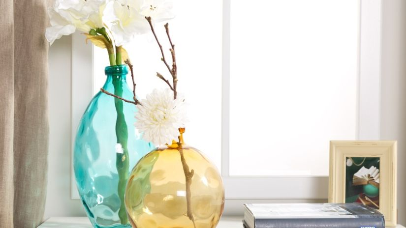 Sklenené vázy v boho štýle