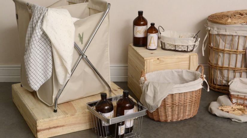 Skladací látkový kôš na prádlo