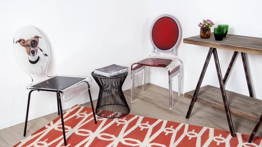 Dizajnové stoličky z plastu