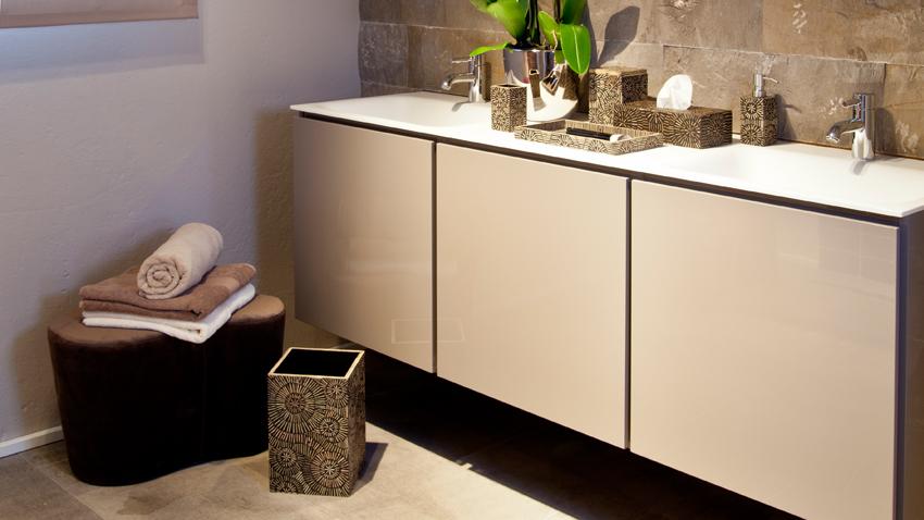 Kúpelňová skrinka pod umývadlo biela