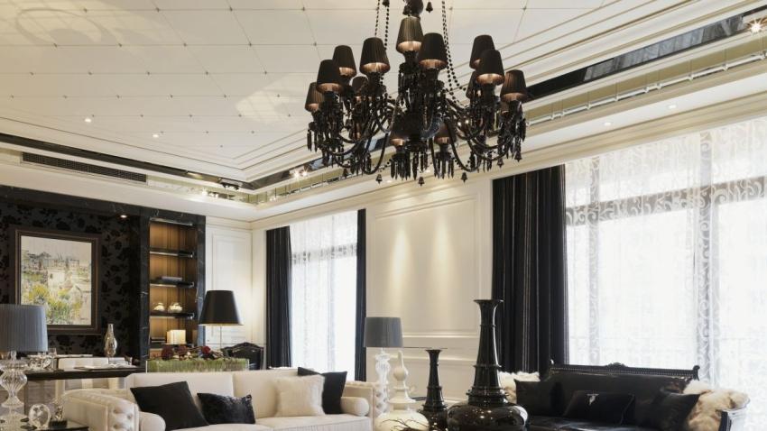 Luxusný čierny glamour luster