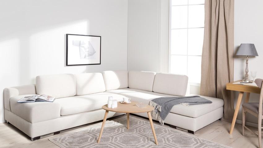 Pohodlná rohová biela sedačka
