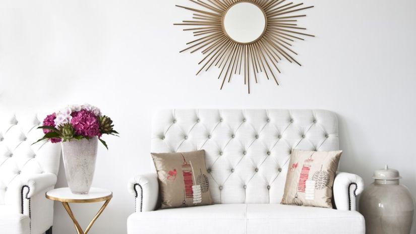 Luxusná biela kožená sedačka