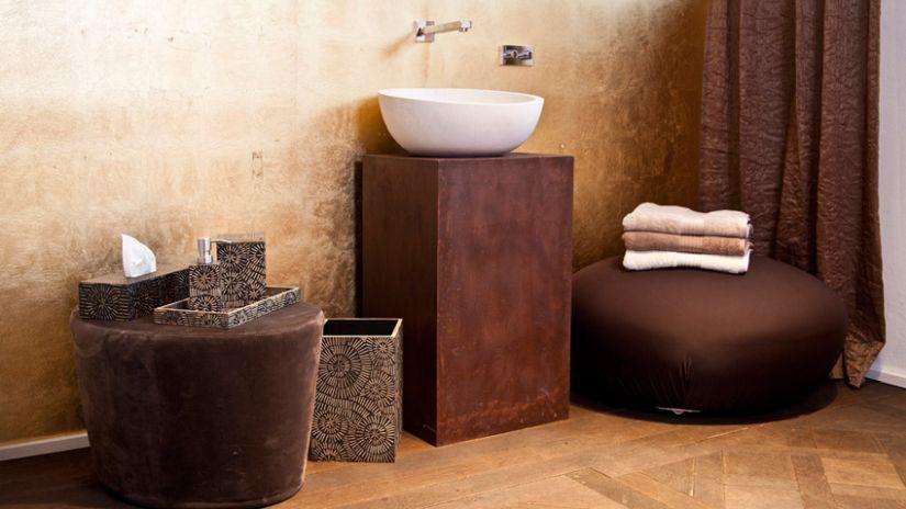 Dizajnová drevená skriňa pod umývadlo