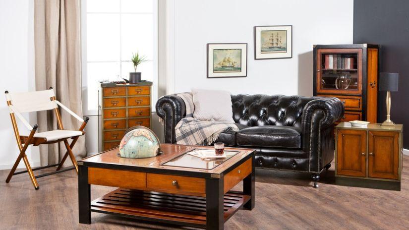 Obývacia izba v koloniálnom štýle