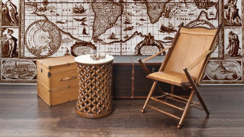Kožená stolička v koloniálnom štýle