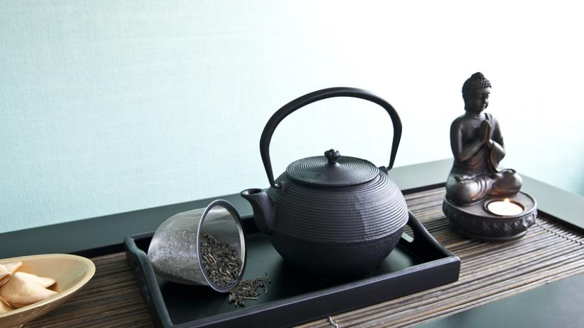 Kanvica na čaj v boho štýle