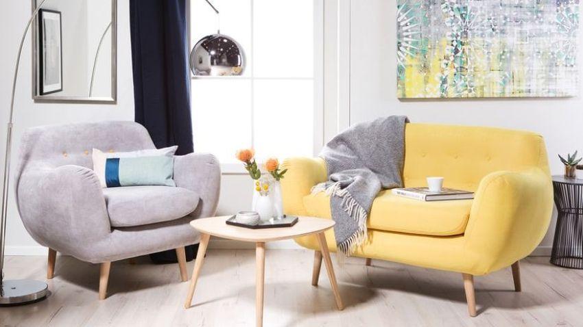 Pohodlná žltá sedačka