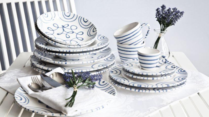 Keramické taniere s motívom