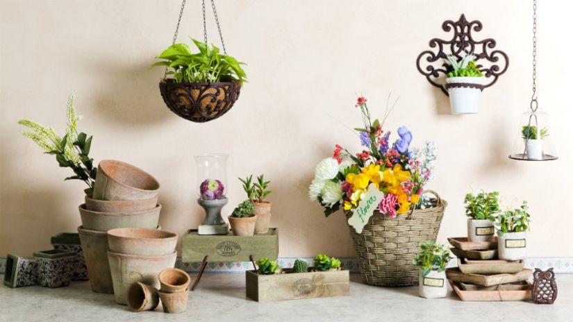 Kvetináče rôznych tvarov