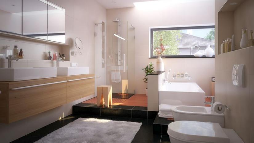 Veľký štýlový koberec do kúpeľne