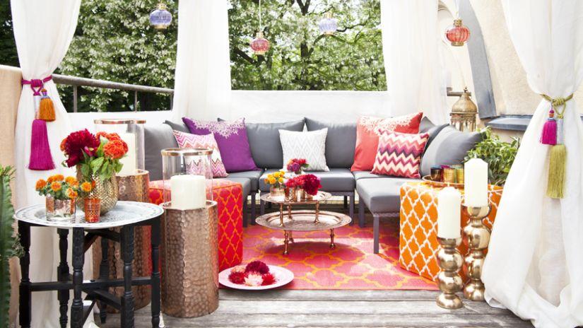 Červený koberec na terasu