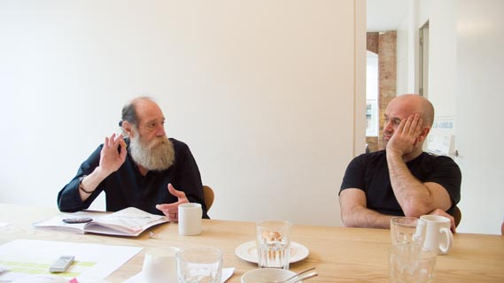 Lawrence Weiner and Jonathan Ellery