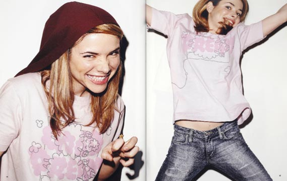 T-shirt love - For the UT project, Uniqlo consultant CD Markus  Kiersztan invited notable designers, artists and musicians to create T-shirts. The results were shot by Terry Richardson and compiled in this book, T-shirt Love, which was available in stores.