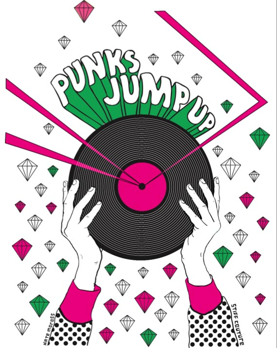 T-Shirt graphic - Punks Jump Up T-Shirt graphic, 2007.