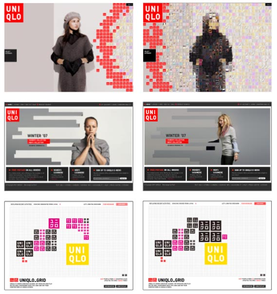 UK website - The UK site, by pod1, uniqlo.co.uk, featuring images from the brand's current People ad campaign shot by Maciek Kobielski and art directed by Markus  Kiersztan of mp creative.