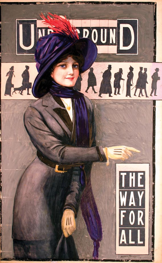 Original... - Alfred France's original painting The Way For All (1911), is much changed...