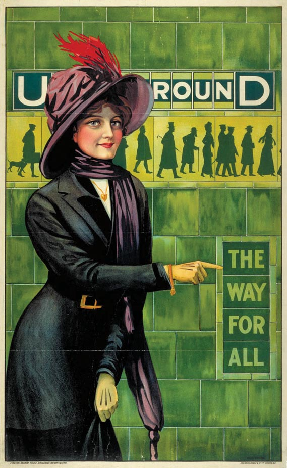 ...and poster - ...in its poster version, where the colour is boosted and the central figure's gaze is turned away from the viewer, supposedly to emphasise her 'everywoman' credentials.