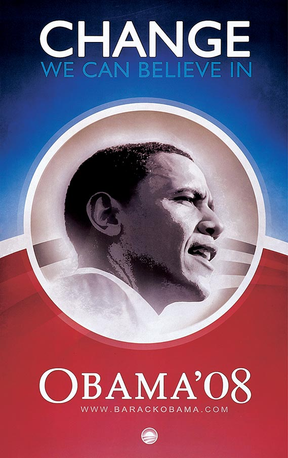 Barack Obama poster - anonymous designer (US, 2007)