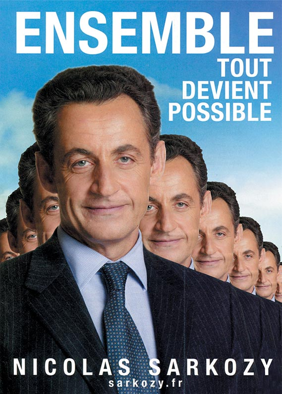 Nicolas Sarkozy poster - anonymous (France 2007)