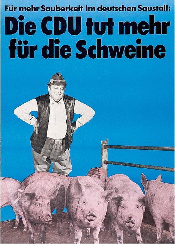 Franz Josef Strauss poster - Klaus Staeck (Germany, 1975) © Klaus Staeck