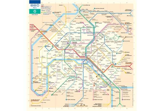 The current Paris Metro pocket diagram in use today - © ratp