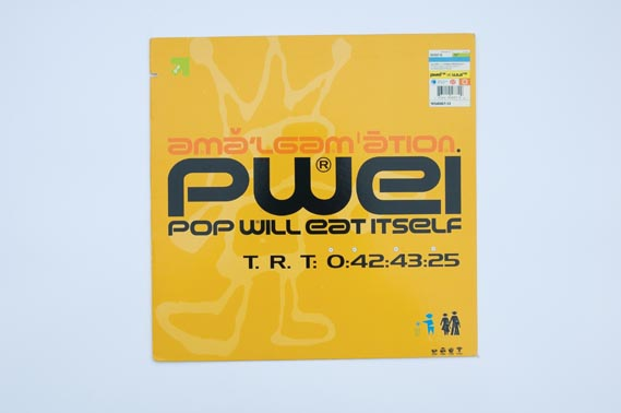 "Pop Will Eat Itself cover - Front cover of Pop Will Eat Itself's 12"" Amalgamation ep, Nothing/ Interscope (1994)"