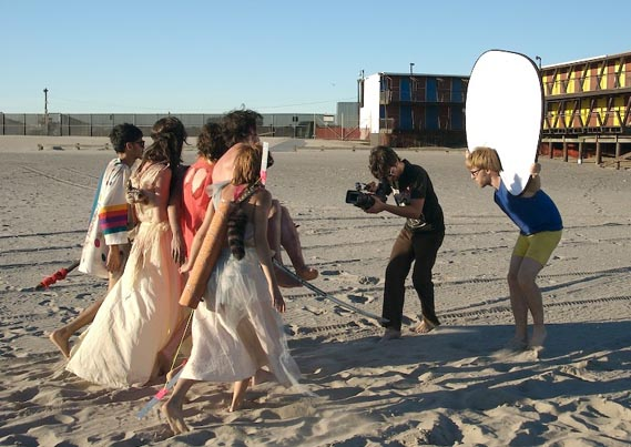 Shooting the video on location