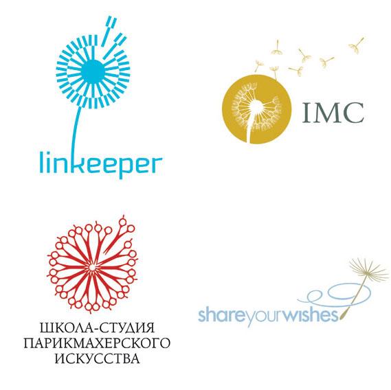 Dandelion - (Clockwise from top left): Ulyanov Denis for linkeeper; Courtney & Company for IMC Group; LaMonica Design for Morningstar Communications; RedBrand for Barberschool.