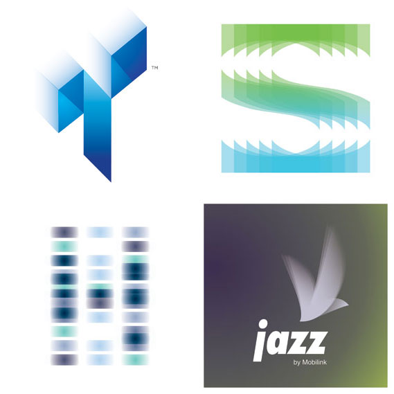 Gossamer - (Clockwise from top left): Michael Freimuth Creative for Tone Animation, LLC.; Roman Kotikov for Soft café; Alin Golfitescu for mobilink Pakistan; Roy Smith Design for Hooke Labora­tories.
