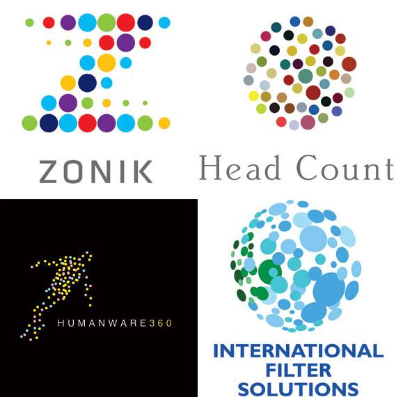 VariDOT - (Clockwise): Lippincott for Zonik; Thread Design for Head Count Asia; Alin Golfitescu for humanware360.com; Blue Sky Design for International Filter Solutions.